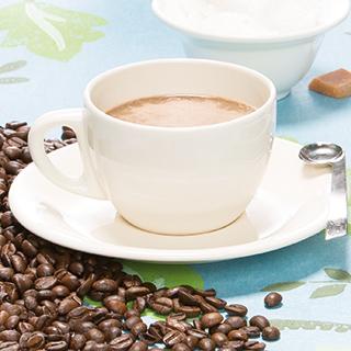 Romige cappuccino