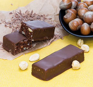 Reep chocolade hazelnoot crunch